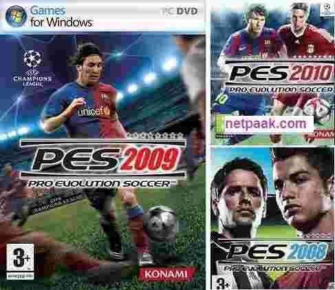 دانلود بازی فوتبال pes 2008, pes 2009, pes 2010 برای PC نسخه کامل