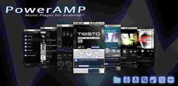 دانلود Poweramp Music Player - بهترین و حرفه ای ترین موزیک پلیر اندروید+تم+ آنلاکر