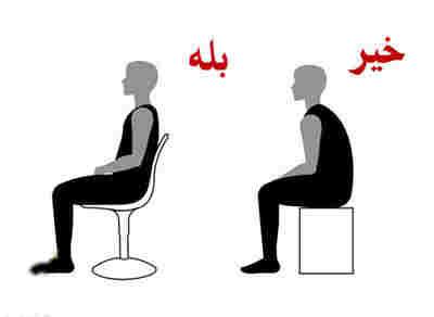 نحوه صحیح ایستادن، نشستن و خوابیدن+ عکس + ویدئو