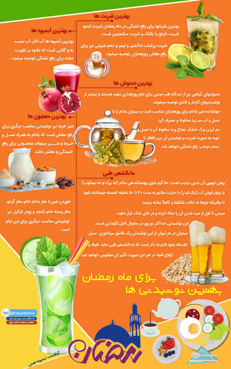 نوشیدنی های فوق العاده برای ماه رمضان