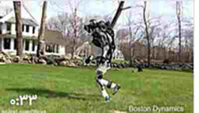 کلیپ روبات اطلس در حال دویدن + ویدئو