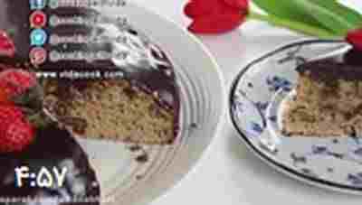 کلیپ طرز تهیه کیک گردویی با روکش شکلاتی آینه ای - کیک شکلاتی جدید + ویدئو