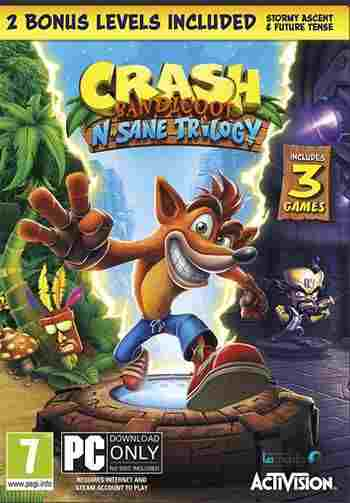 Crash Bandicoot N. Sane Trilogy pc cover small - دانلود بازی ۲۰۱۸ Crash Bandicoot N Sane Trilogy + کرک + ریپک FitGirl و CorePack نسخه کم حجم و فشرده
